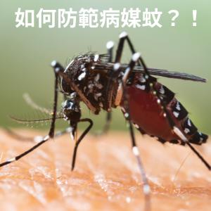 杜絕疾病帶原者-蚊子,防範措施要做好!